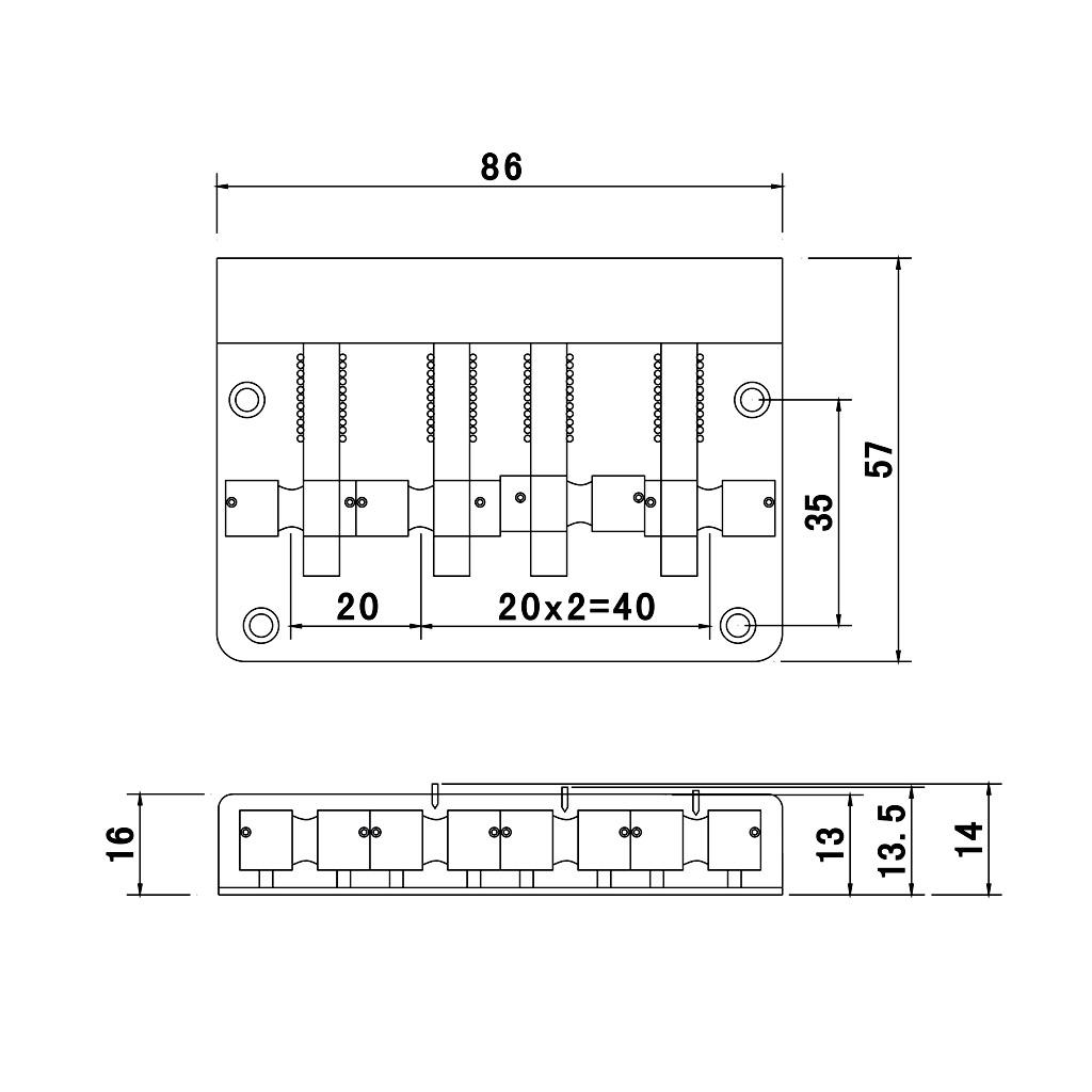 black 4 string electric bass guitar bridge w 4 screws hex wrench great part ebay. Black Bedroom Furniture Sets. Home Design Ideas
