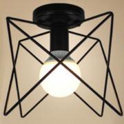 E27 Basis Metall Eisen Draht Lampenschirm Decke montiert Anhänger   eBay