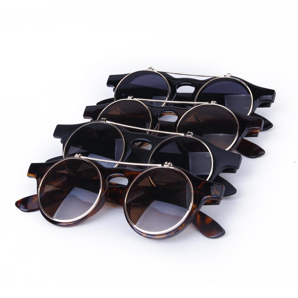 Cosplay-Lunettes-De-Soleil-Goggles-Steampunk-Goth-Ancien-Rustique-Punk-Glasses miniature 6