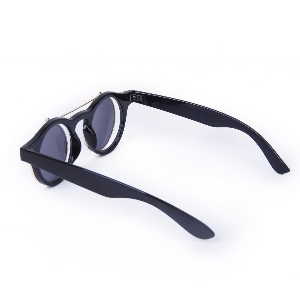 Cosplay-Lunettes-De-Soleil-Goggles-Steampunk-Goth-Ancien-Rustique-Punk-Glasses miniature 7