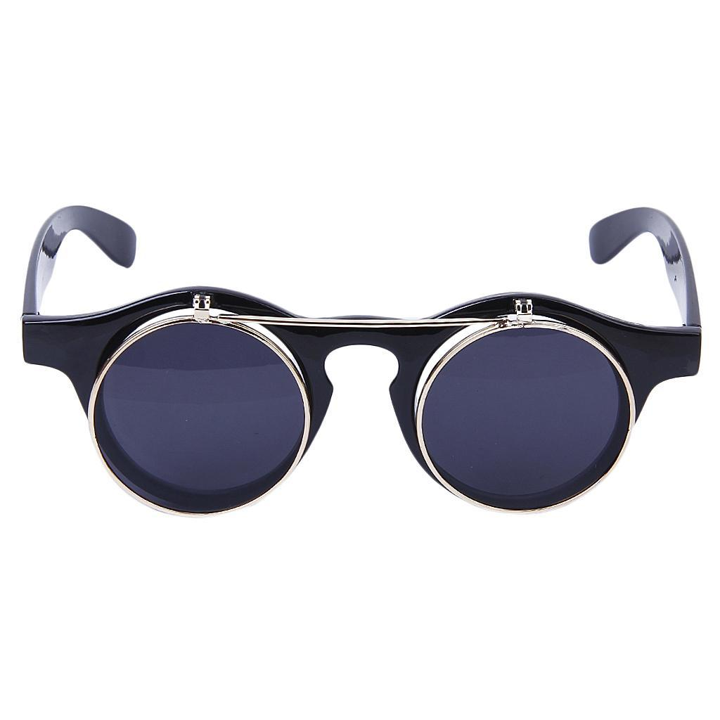 Cosplay-Lunettes-De-Soleil-Goggles-Steampunk-Goth-Ancien-Rustique-Punk-Glasses miniature 8