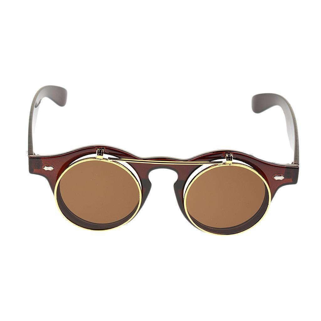 Cosplay-Lunettes-De-Soleil-Goggles-Steampunk-Goth-Ancien-Rustique-Punk-Glasses miniature 10