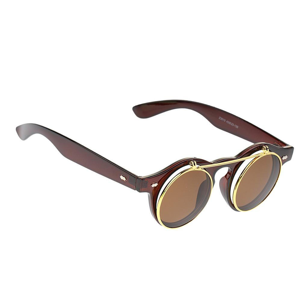 Cosplay-Lunettes-De-Soleil-Goggles-Steampunk-Goth-Ancien-Rustique-Punk-Glasses miniature 11