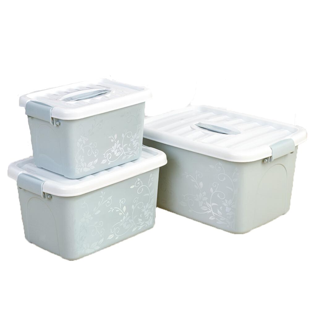 3-pcs-Multifonction-En-Plastique-Boite-De-Rangement-Bin-avec-Couvercles miniature 6