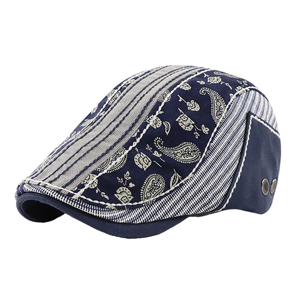 miniature 13 - Mode casquette plate Paisley gavroche chapeau casquette pour hommes rugissant