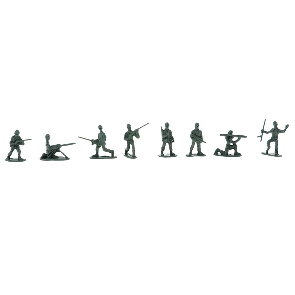 100x-Soldaten-Figur-Modell-Spielzeug-Kinder-Jungen-Modelle-Kits-Militaer-Armee Indexbild 10