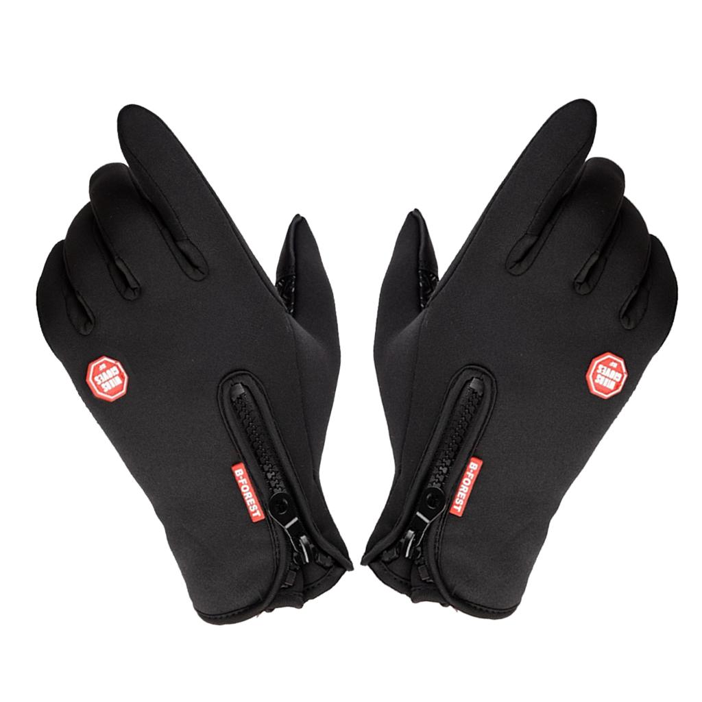 1 Pair Gloves Thermal Warm Motorbike Glove Touch Screen Anti-Skid Ski Mitten