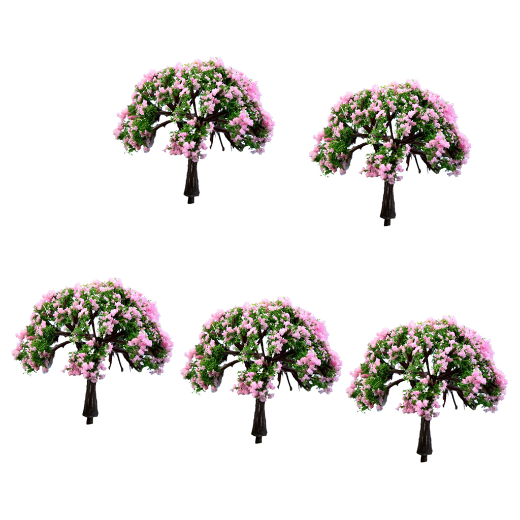 5pcs Miniature Dollhouse Bonsai Fairy Garden Landscape Resin Tree Decor #9
