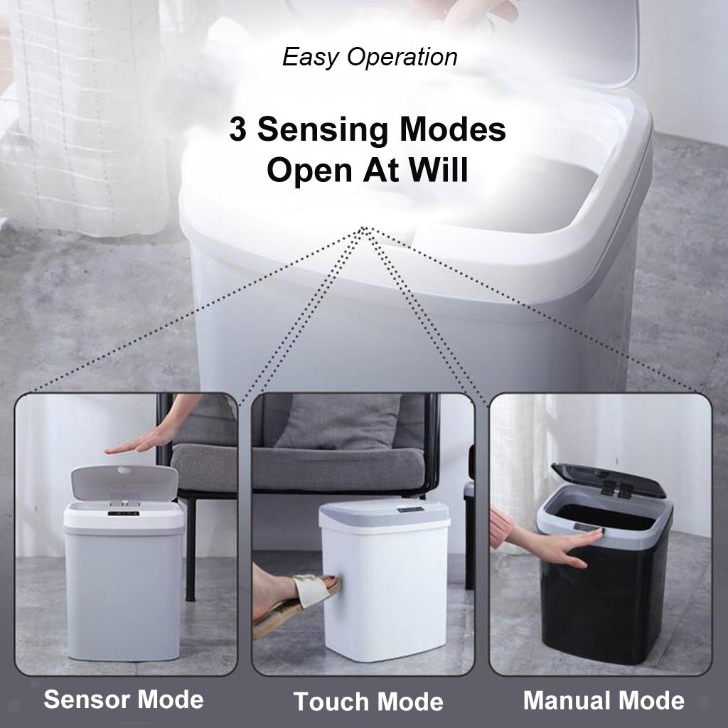 Bidoni-Della-Spazzatura-Intelligenti-A-Induzione-15L-Con-Sensore-Di-Movimento miniatura 3