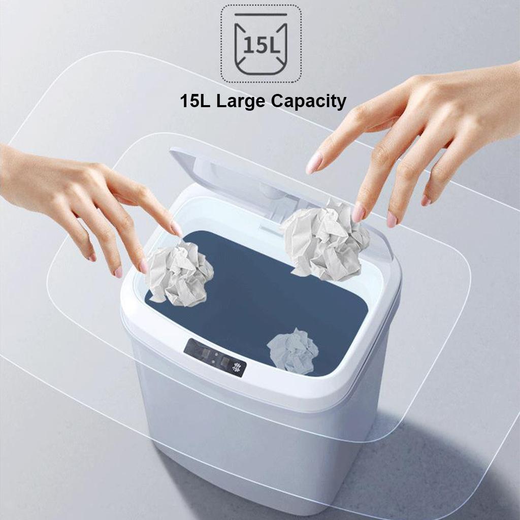 Bidoni-Della-Spazzatura-Intelligenti-A-Induzione-15L-Con-Sensore-Di-Movimento miniatura 4