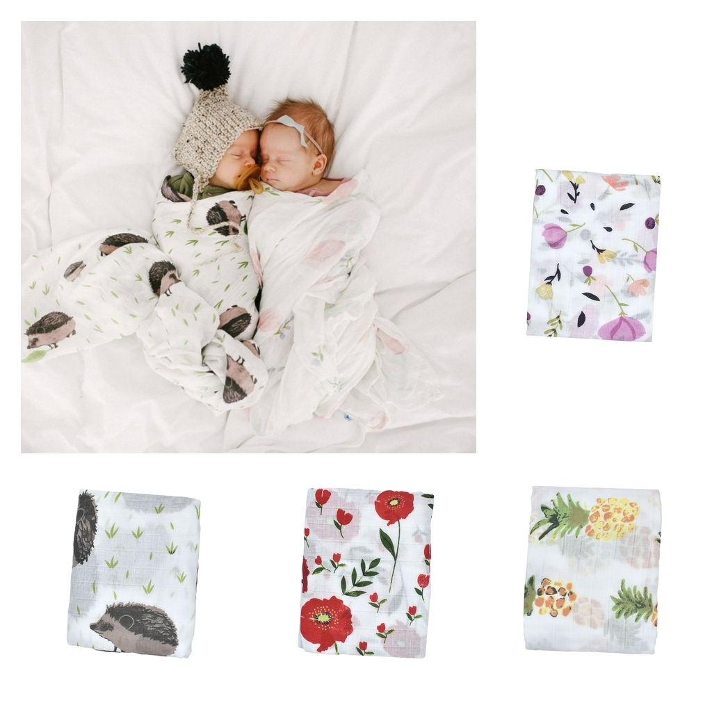 thumbnail 4 - Baby Unisex Baby Muslin Swaddle Blankets, One Size