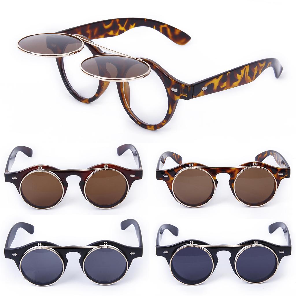 Cosplay-Lunettes-De-Soleil-Goggles-Steampunk-Goth-Ancien-Rustique-Punk-Glasses miniature 4