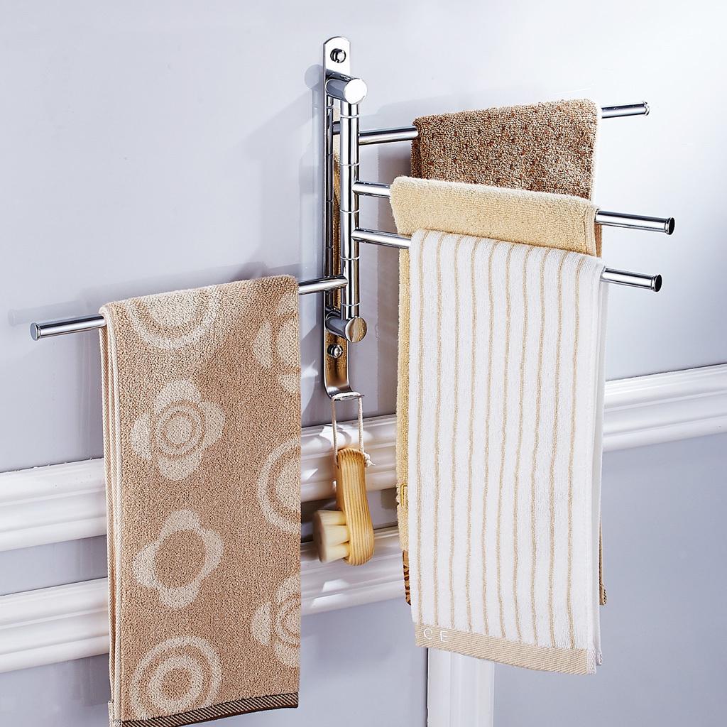 360° drehbar Handtuchhalter Wand Bad Handtuchstange