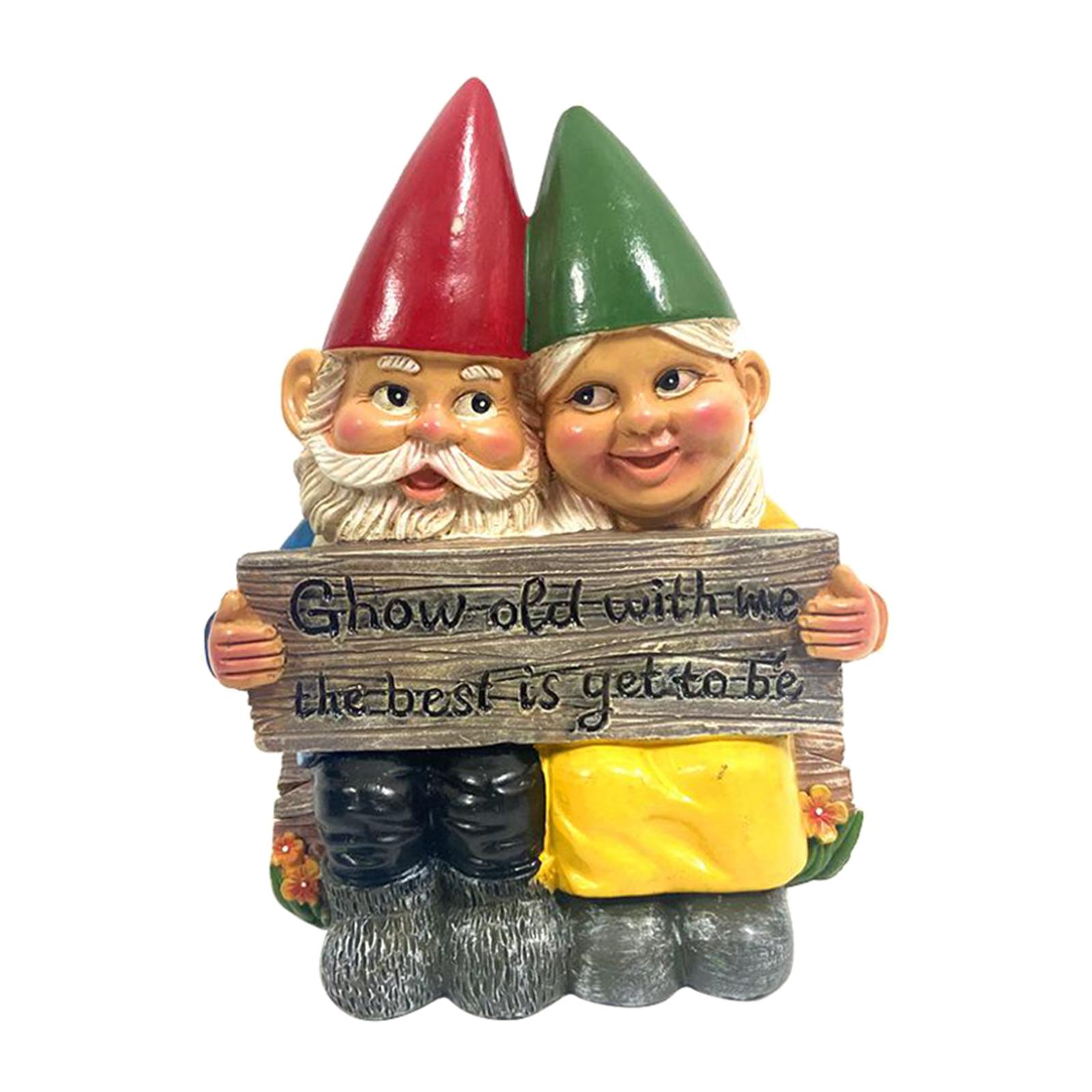 thumbnail 27 - Garden Gnome Polyresin Garden Sculpture Outdoor/Indoor Decor Funny Lawn Figurine