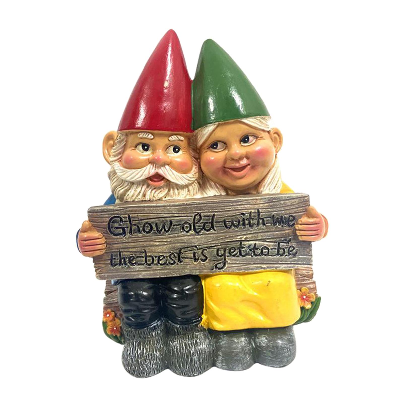 thumbnail 28 - Funny Resin Naughty Garden Gnome Statue Ornaments Villa Home Figurines Decor