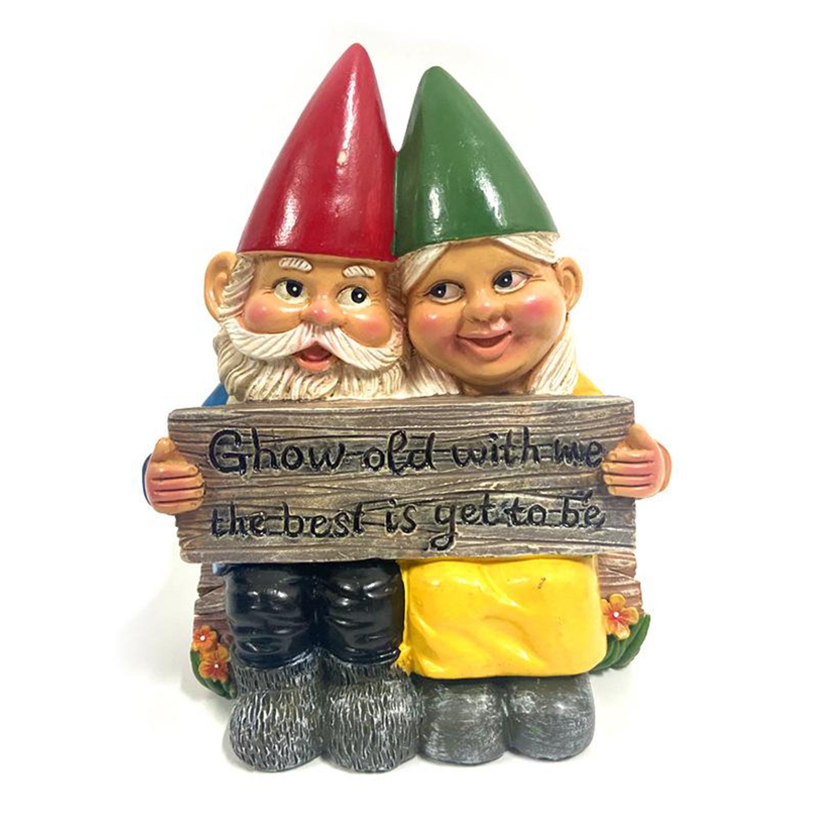 thumbnail 28 - Funny Resin Naughty Garden Gnome Statue Ornaments Villa Home Figurines Decor AU