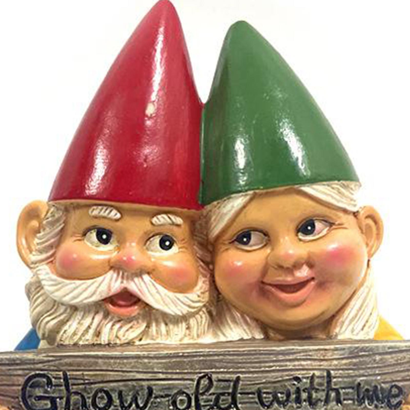 thumbnail 28 - Garden Gnome Polyresin Garden Sculpture Outdoor/Indoor Decor Funny Lawn Figurine