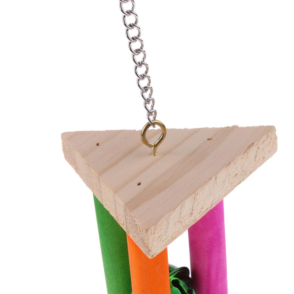 miniatura 10 - Pappagallo in legno per uccelli Giocattolo da masticare Giocattolo da masticare