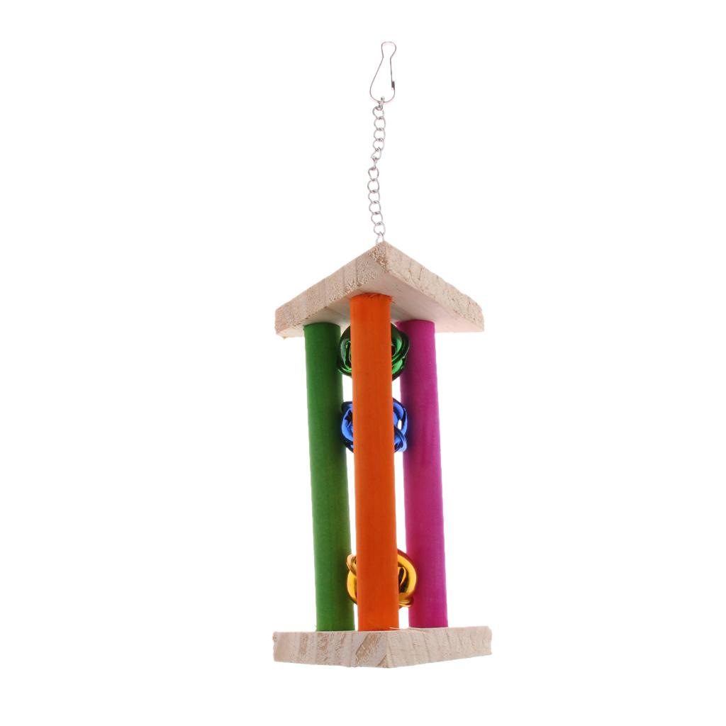 miniatura 9 - Pappagallo in legno per uccelli Giocattolo da masticare Giocattolo da masticare