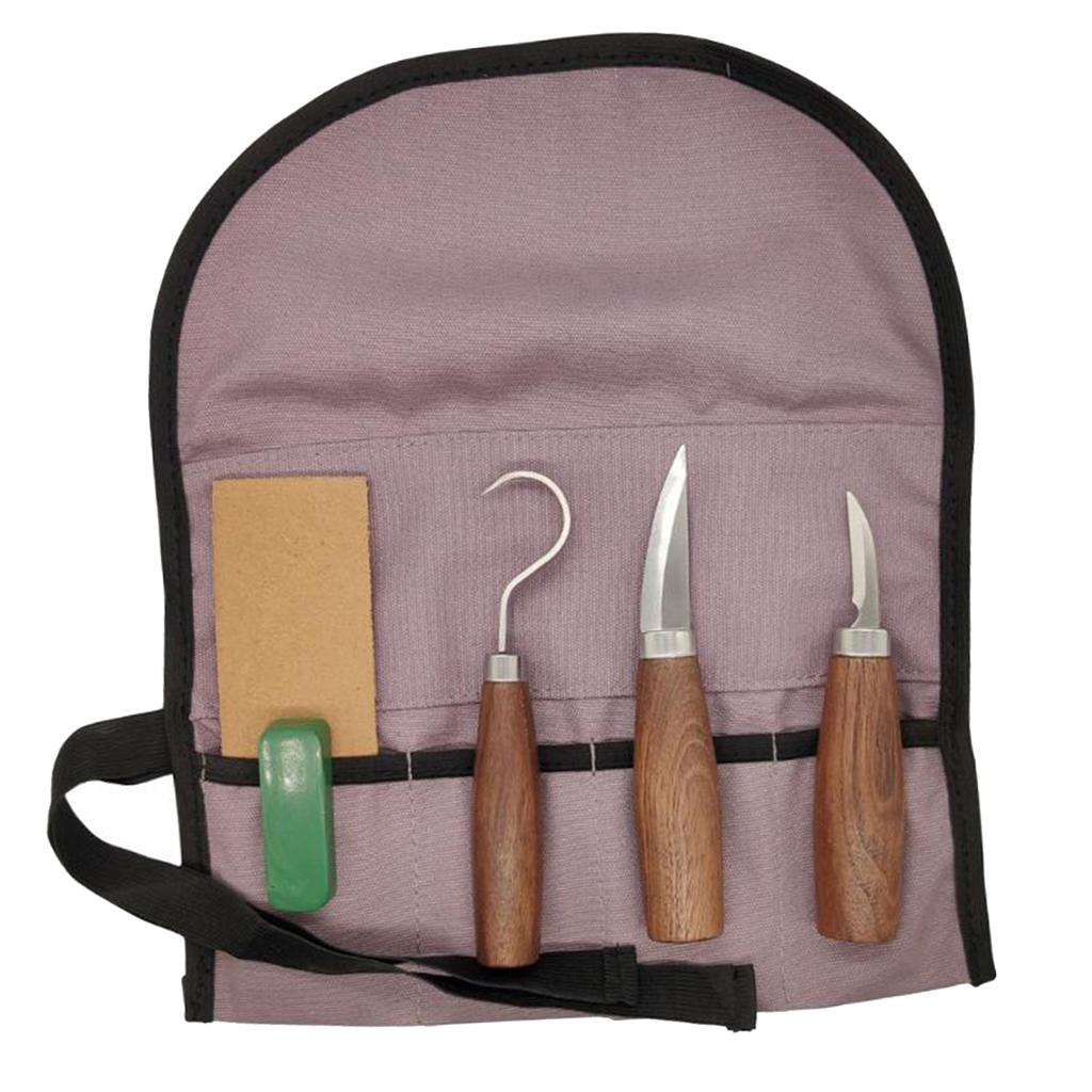 Strumenti-di-Intaglio-del-legno-Set-Gancio-Intaglio-Taglierina-Scalpello-Cutter miniatura 9