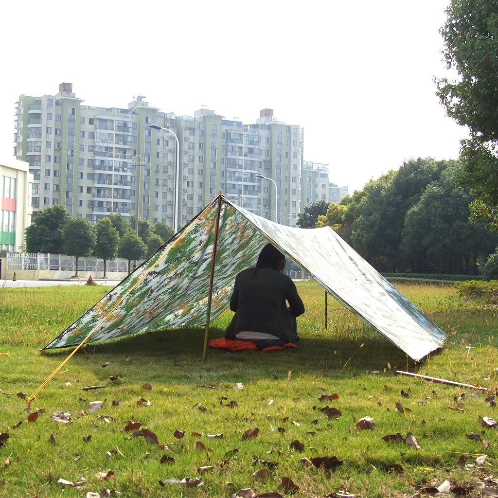 Camo-Impermeabile-Campeggio-Escursionismo-Tenda-Tarp-Baldacchino-Tende-Da miniatura 6