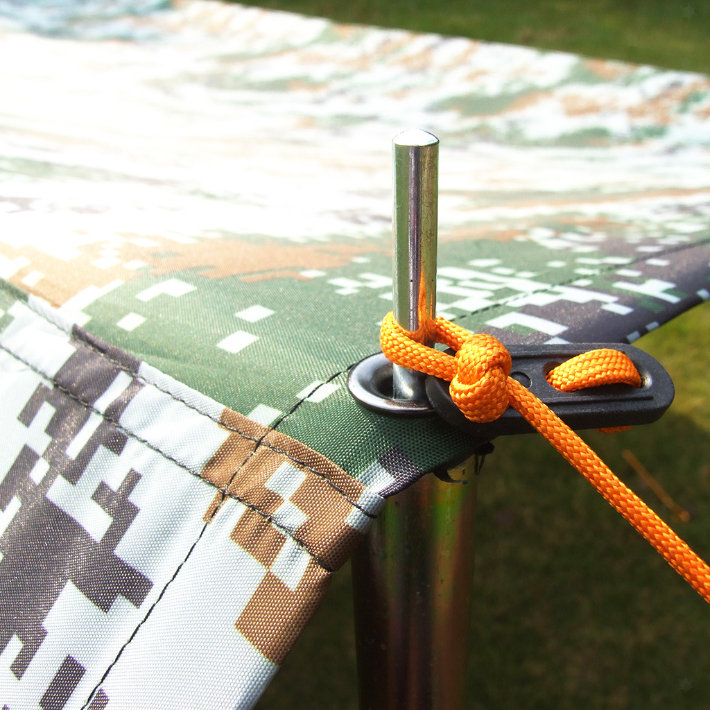 Camo-Impermeabile-Campeggio-Escursionismo-Tenda-Tarp-Baldacchino-Tende-Da miniatura 7