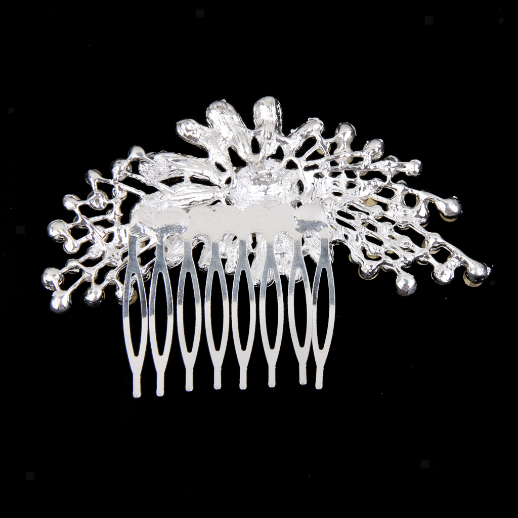Wedding-Party-Flower-Crystal-Rhinestone-Bridal-Hair-Comb-Clip-Hair-Accessory thumbnail 19