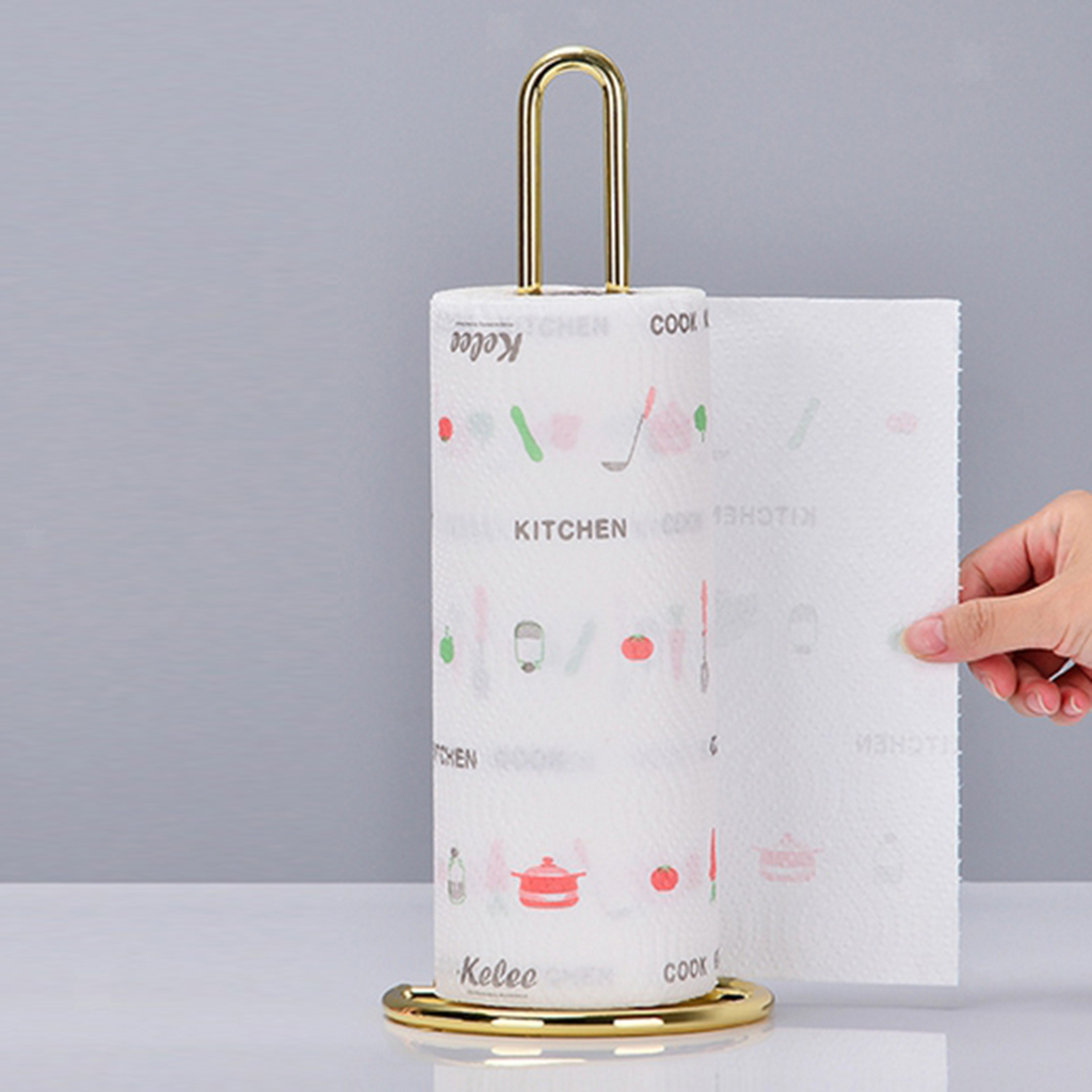 Portable-Standing-Paper-Towel-Holder-Bathroom-Towel-Roll-Stand-Organizer thumbnail 4