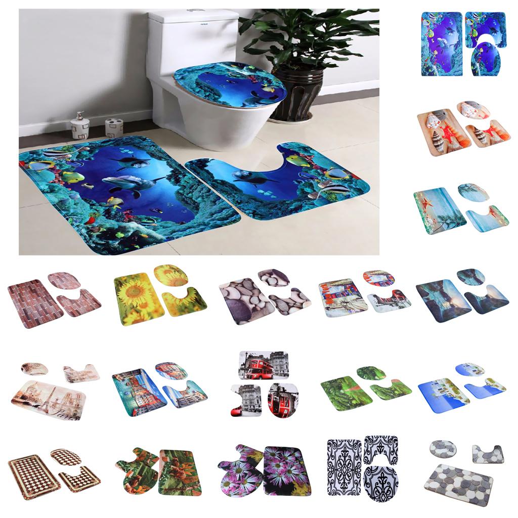 Details zu Bade Set Badgarnitur Badezimmer Garnitur Matte Set Badematte  Vorleger Teppich
