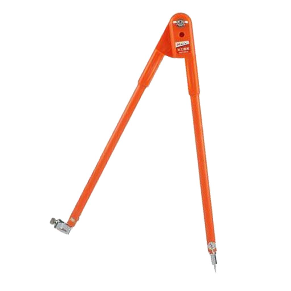 miniature 3 - Carpenter Precision Marking Scribing Compass with Pencil Holder Map Plotting