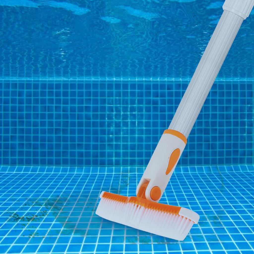 10in Plastic Swimming Pool Brush Pool Broom Head Pool Floor and Wall Brush