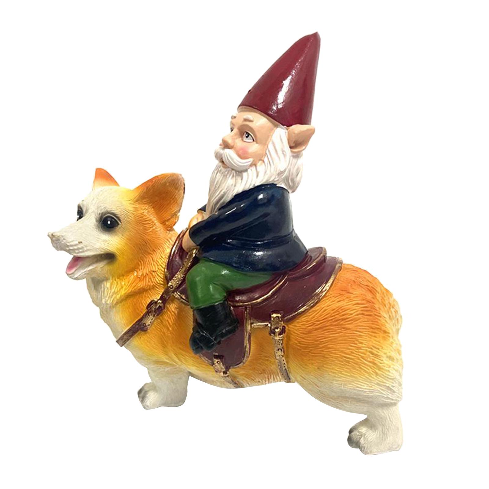 thumbnail 31 - Funny Resin Naughty Garden Gnome Statue Ornaments Villa Home Figurines Decor AU