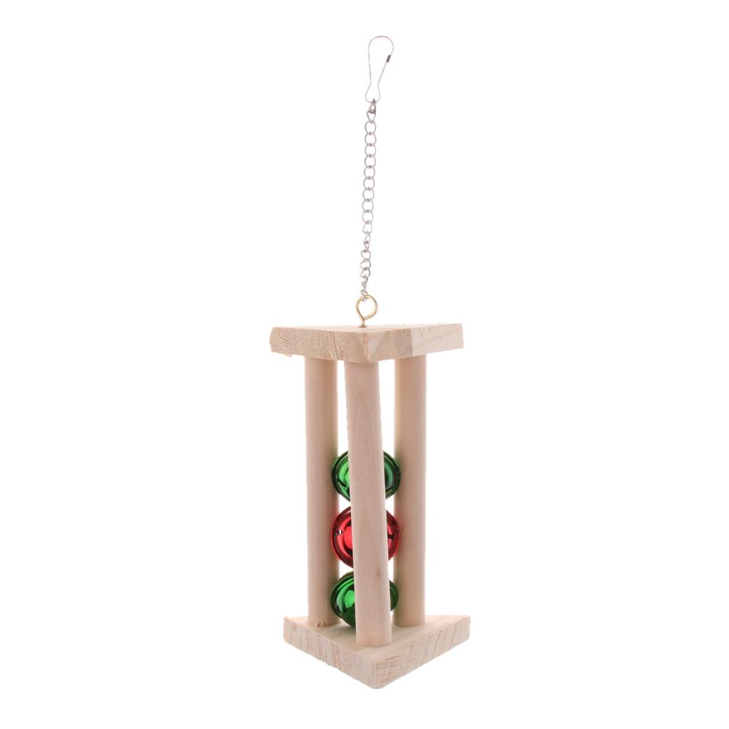 miniatura 12 - Pappagallo in legno per uccelli Giocattolo da masticare Giocattolo da masticare