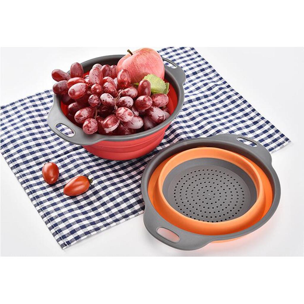 miniatura 3 - Utensili da cucina per la casa, scolapasta / colino / cestello pieghevole in