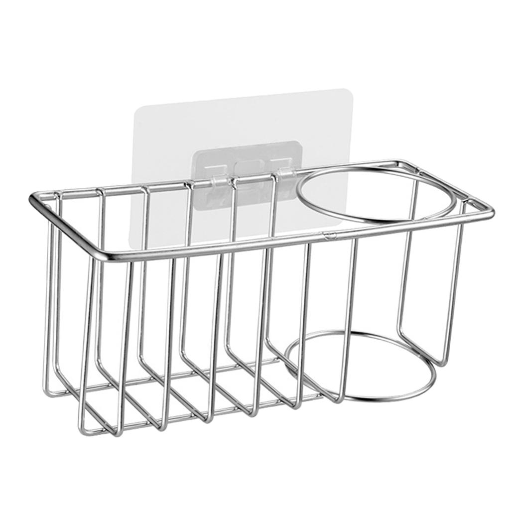 Porta-Spugne-Da-Cucina-Porta-Spazzole-Per-Piatti-Cestello-Per-Drenaggio miniatura 9