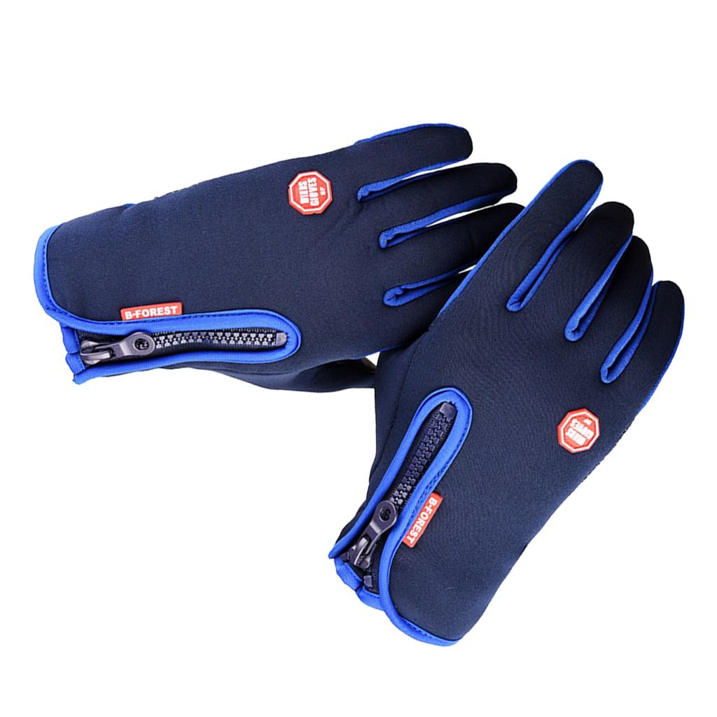 1 Pair Men's Windproof Winter Thermal Gloves Bike Cycling Glove Ski Mitten