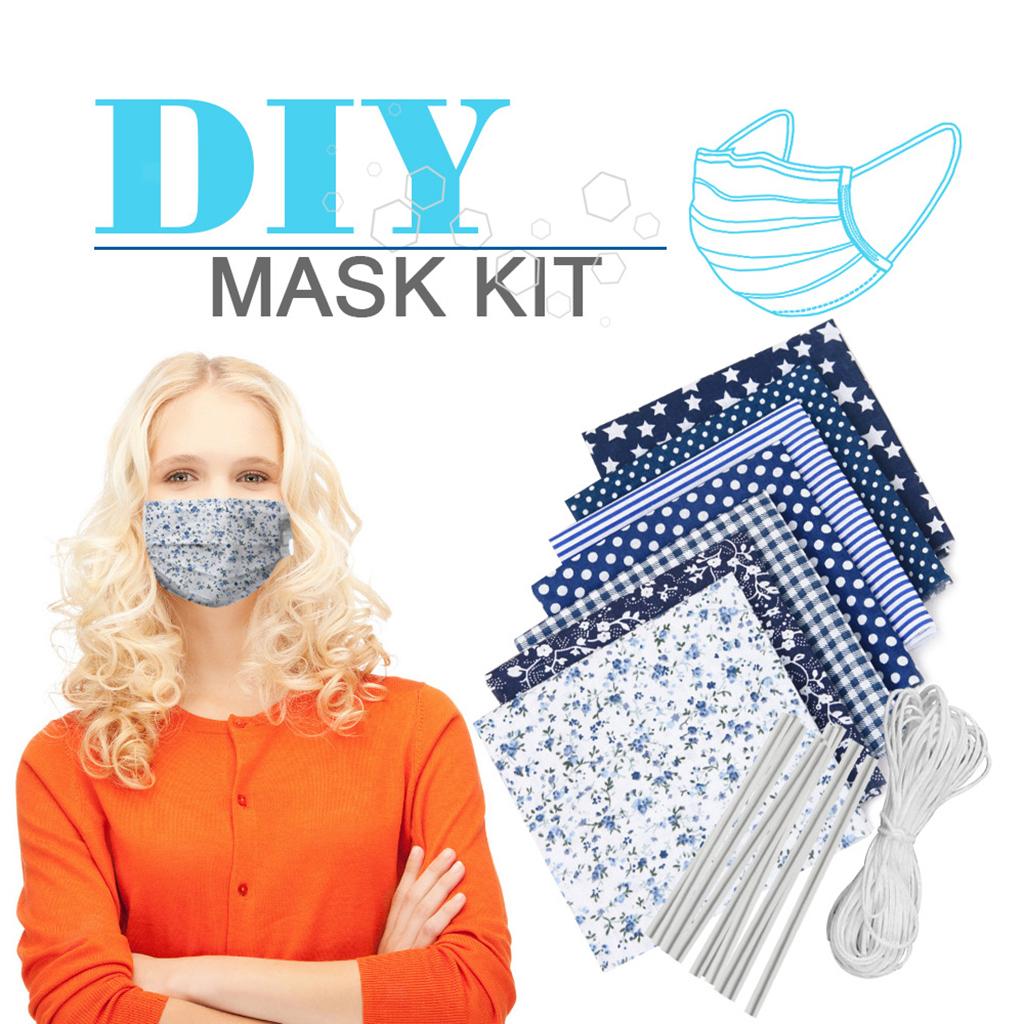 Indexbild 4 - DIY Gesichtsmaske Kit Nähen wiederverwendbarer waschbarer Atem Anti Staub