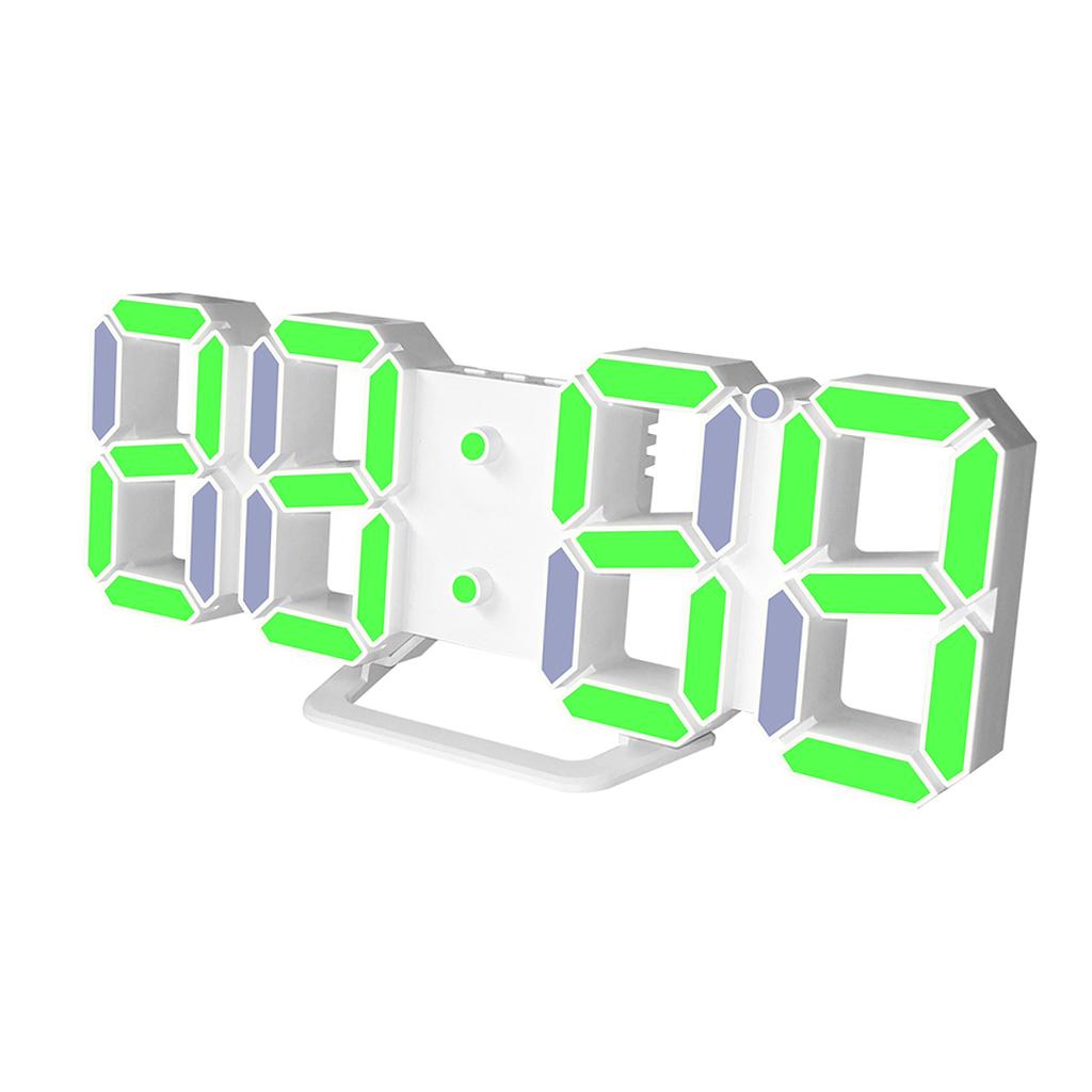 Moderno-Orologio-Da-Parete-A-LED-3D-Digitale-Snooze-USB-12-24-Ore miniatura 9