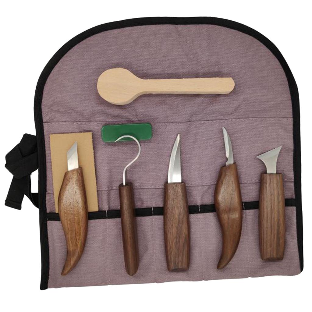 Strumenti-di-Intaglio-del-legno-Set-Gancio-Intaglio-Taglierina-Scalpello-Cutter miniatura 11