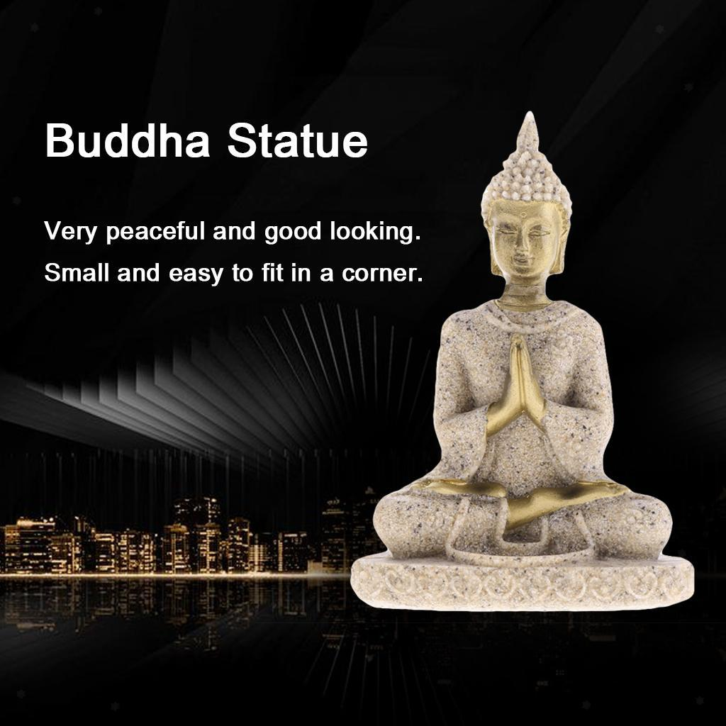 Hindu God Statue Sandstone Meditation Figure Hand Carved Worship Ganesh Figure