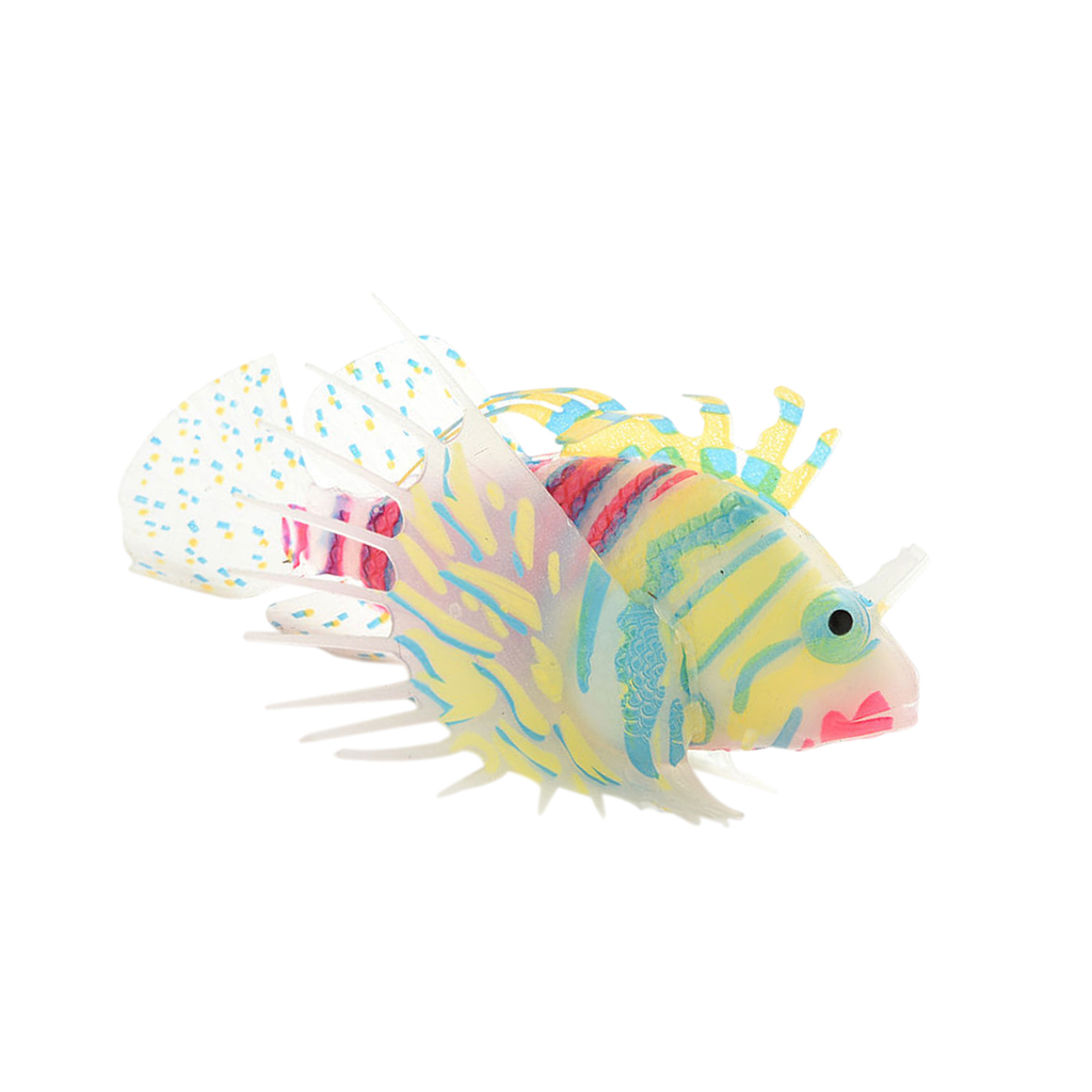 Artificial Silicone Glow In The Dark Lionfish Snailfish