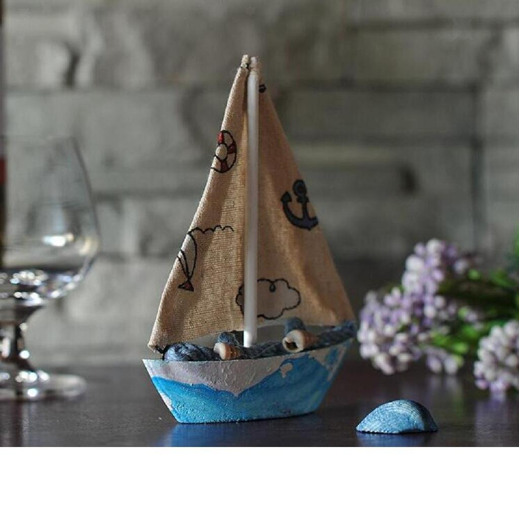 Wooden-Sailing-Boat-Ship-Ornament-f-Office-Cafe-Pub-Tabletop-Decoration thumbnail 13