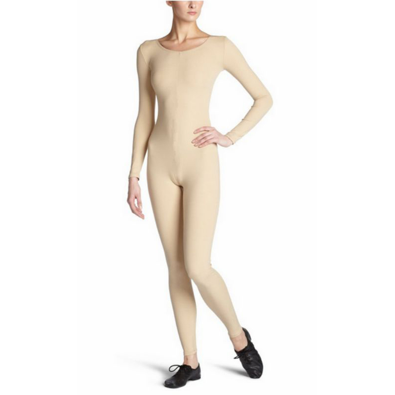 Scoop-Neck-Full-Body-Dance-Unitard-Bodysuit-Costume-Long-Sleeve-Unitard-Womens thumbnail 13