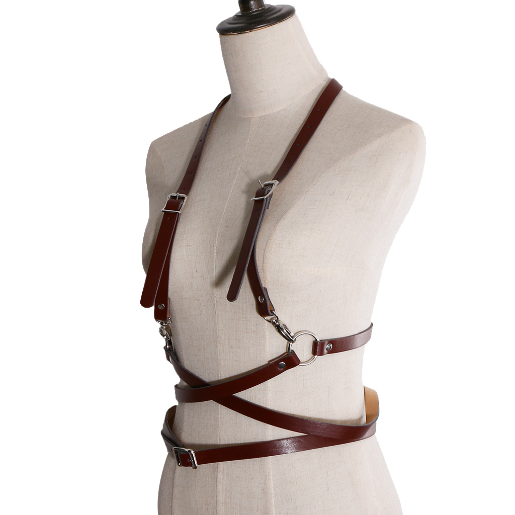 Fashion Women PU Leather Body Suspenders Harness Belt Lightweight Outfit