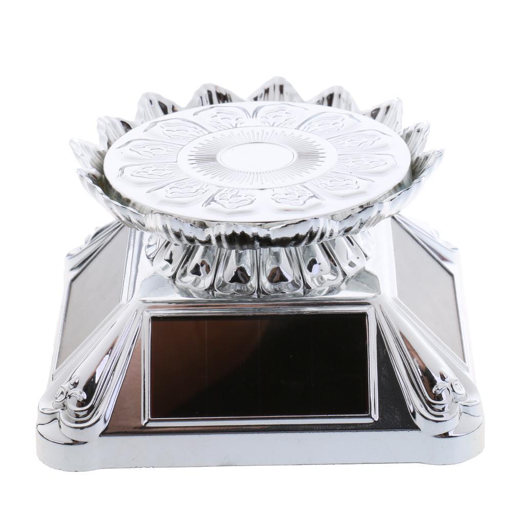 4 Drehbarer Plattenteller Mit Display Standfuß Batteriebetrieb Solar