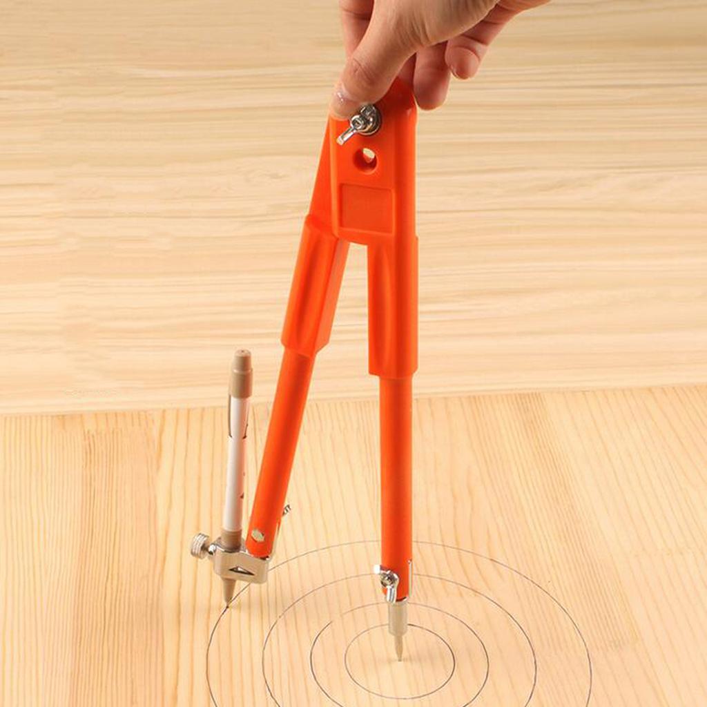 miniature 7 - Carpenter Precision Marking Scribing Compass with Pencil Holder Map Plotting