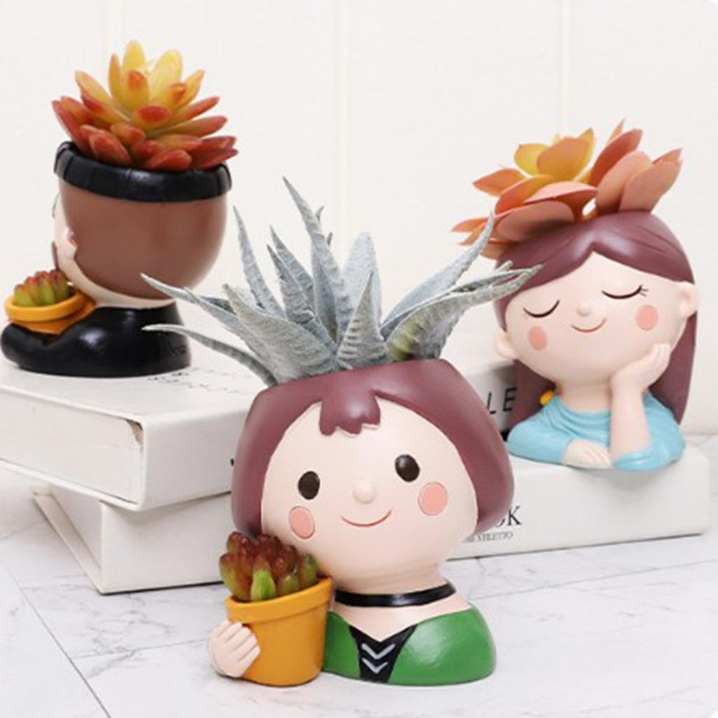 Succulent Plant Pot Cute Girls Flower Planter Flowerpot Small Garden Bonsai Pots
