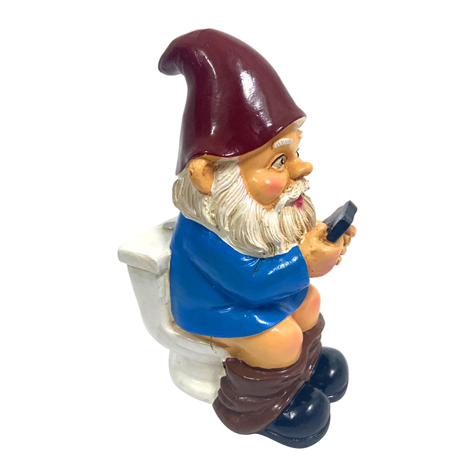 thumbnail 33 - Garden Gnome Statue Small Resin Lawn Gnome Scuplture Funny Indoor Outdoor Decor
