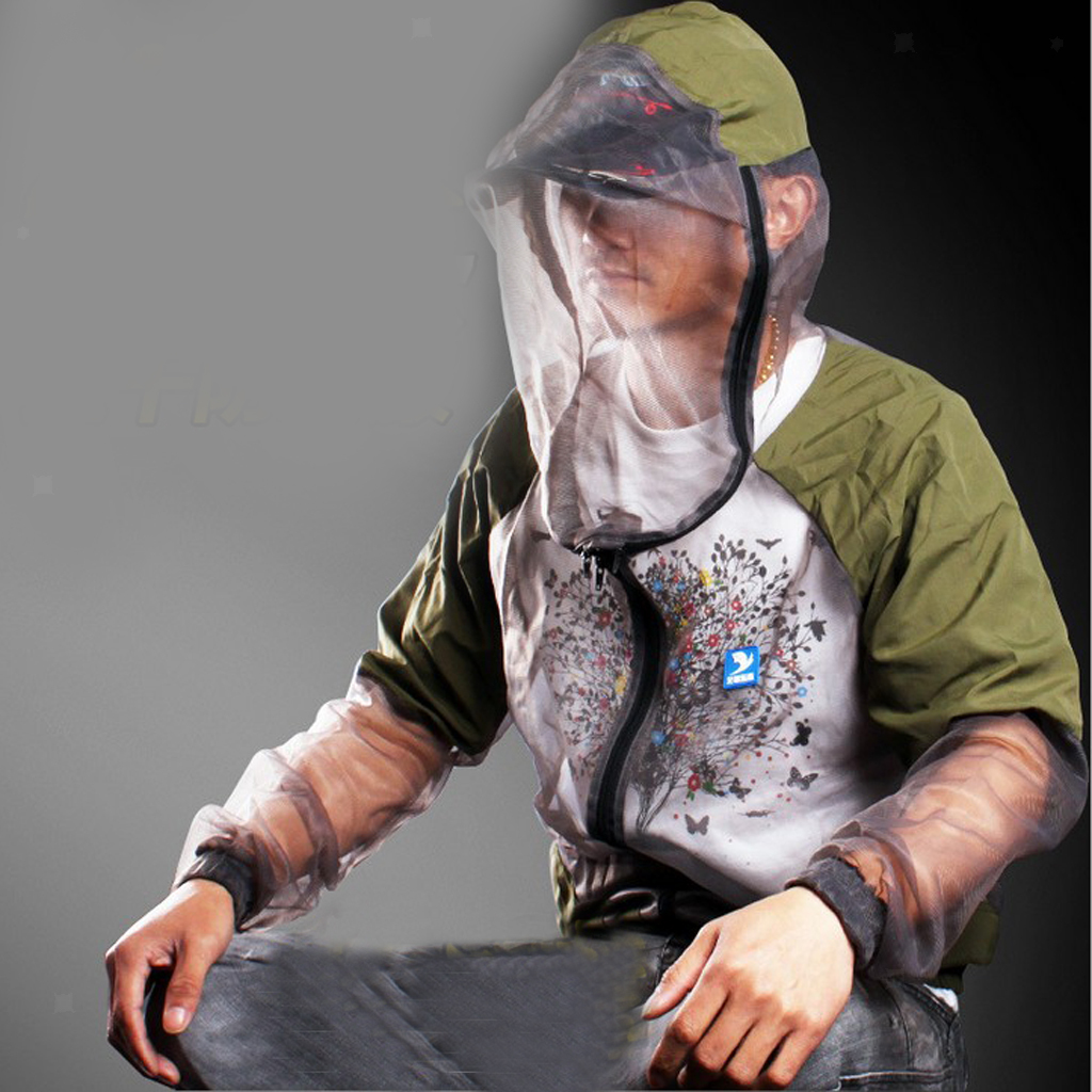 Breathable Anti-mosquito Bug Repellent Suit Insect Bee Prevent Mesh Green
