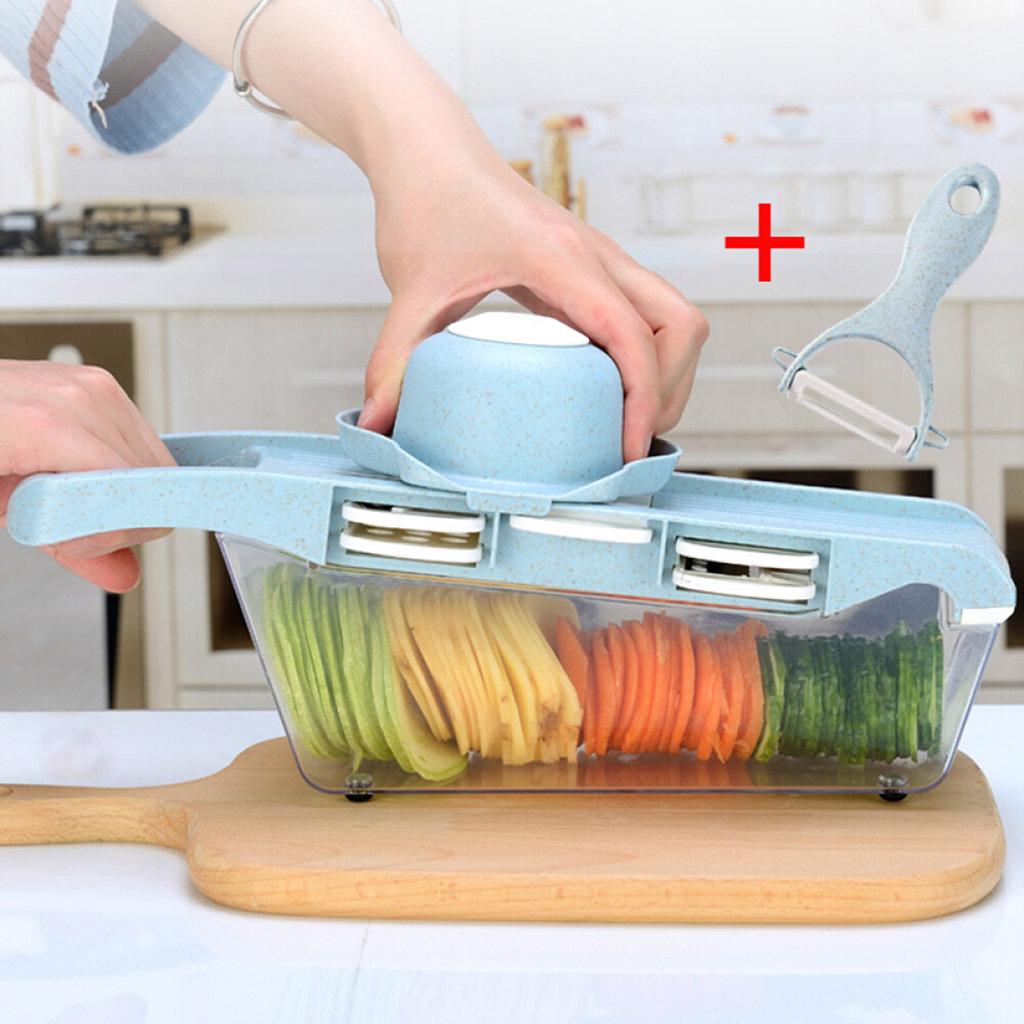 miniatura 4 - Affettatrice-Spiralizer-Affettatrice-di-verdure-Tritatutto-per-verdure